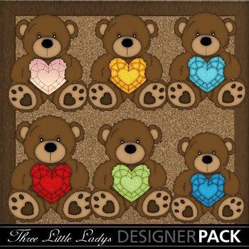 Brown Birthstone Bears 2