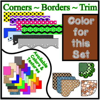 Brown Borders Trim Corners * Create Your Own Dream Classroom / Daycare *