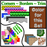 Brown Borders Trim Corners * Create Your Own Dream Classro