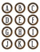 Brown Camouflage Dot Labels