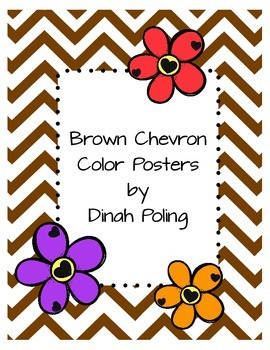 Brown Chevron Color Posters