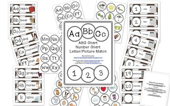 Brown Chevron Letter and Number Cards