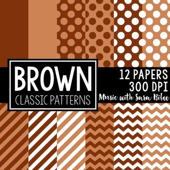 Brown Classic Designs- 12 Digital Papers