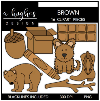 Brown Color Clipart {A Hughes Design}