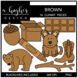 Brown Color Clipart {A Hughes Design}