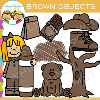 Brown Color Objects Clip Art