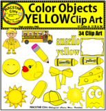 Yellow Color Objects Clip Art English & Spanish Personal and Commercial Use