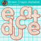 Brown Crayon Alphabet Clip Art {Great for Classroom Decor & Resources}