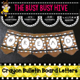 Brown Crayon Bulletin Board Letters