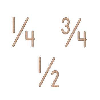 Alphabet Clip Art Brown Crayon Look  -Numerals, Punctuation Marks & Math Symbols