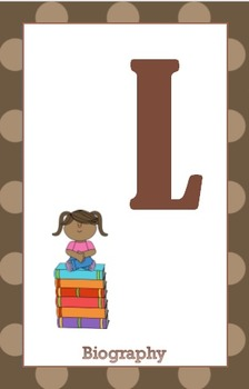 Brown Dot Library Shelf Sign Collection