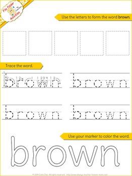 Brown- File Folder Activity Set