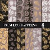 Brown & Gold Palm Leaf Patterns