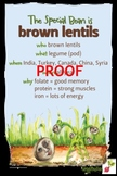 Brown Lentils Poster - Available in English and Spanish!