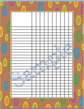 Brown Multi-Dots Incentive Chart/Grade Chart
