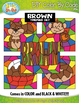 Brown Objects Color By Code Clipart {Zip-A-Dee-Doo-Dah Designs}