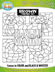 Brown Objects Color By Code Clipart {Zip-A-Dee-Doo-Dah Designs}