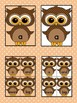 Brown Owl  Dolch Pre-Primer Sight Word Flashcards and Posters