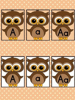 Brown Owl  Full Page Alphabet Letter Posters / Word Wall Headers