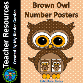 Brown Owl Full Page Math Number Posters 0-100