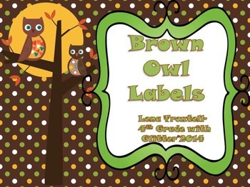 Brown Owl Labels Preview