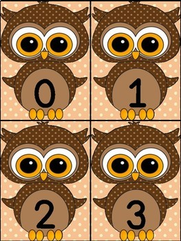Brown Owl Math Number Flashcards 0-100