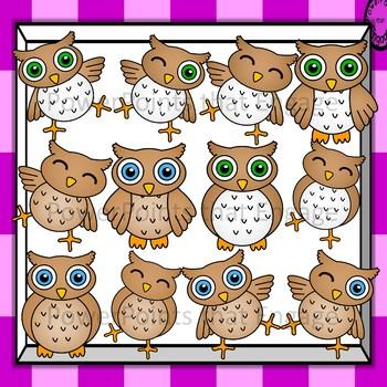 Brown Owls Clip Art