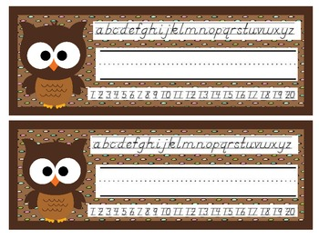 Brown Owls Nameplates D'Nealian