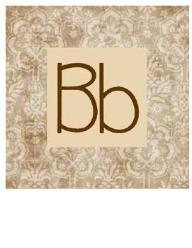 Brown Paisley Alphabet Bundle
