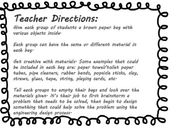 Brown Paper Bag STEM challenge