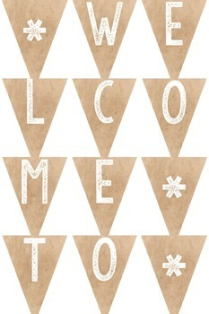 Brown Paper Farmhouse Bunting