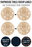 Brown Paper Farmhouse Round Table/ Group Numbers