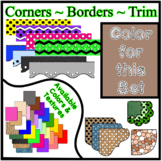 Brown Pastel Borders Trim Corners *Create Your Own Dream Classroom/Daycare*