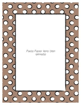 Brown Pastel Poster Frames * Create Your Own Dream Classroom / Daycare *
