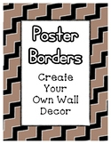 Brown Pastel Poster Frames * Create Your Own Dream Classro