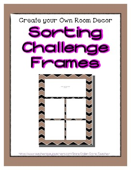 Brown Pastel Sorting Mat Frames * Create Your Own Dream Classroom Daycare