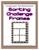 Brown Pastel Sorting Mat Frames * Create Your Own Dream Cl