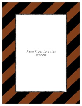 Brown Poster Frames * Create Your Own Dream Classroom / Daycare *