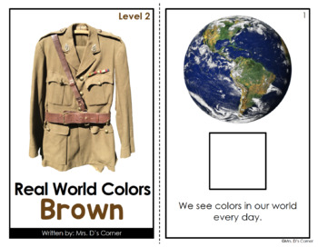 Brown - Real Life Colors Adapted Book Bundle | Real Picture Color Books