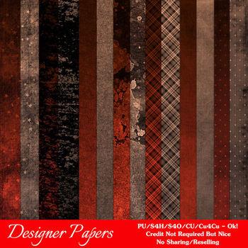 Brown Red Colors Digital Papers Package 1