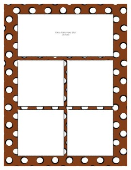 Brown Sorting Mat Frames * Create Your Own Dream Classroom / Daycare *