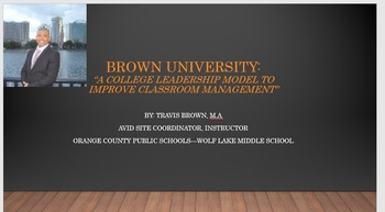 Brown University: A Classroom Management System that works!