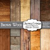 Brown Wood Digital Paper 1082