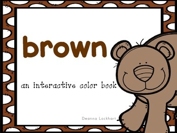 Brown-an interactive color book