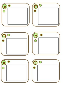 Chocolate and Mint Green Bubble Pattern - Stationary and Labels