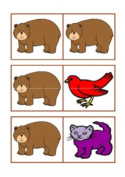 Brown bear brown bear king size domino