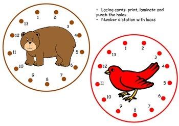 Brown bear brown bear lacing cards