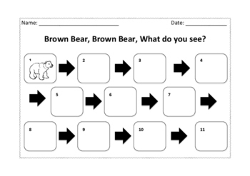 Brown bear brown bear sequencing activity
