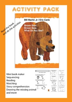Free Brown Bear Coloring Page Eric Carle, Download Free Clip Art ... | 350x247