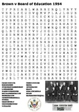 Brown v Board of Education 1954 Word Search